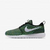 Nike zapatillas para hombre roshe flyknit negro/verde voltaje/voltio/blanco
