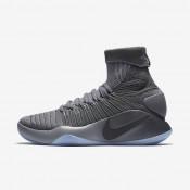 Nike zapatillas para hombre hyperdunk 2016 flyknit gris oscuro/gris azulado/platino metalizado