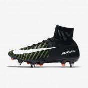 Nike zapatillas para hombre mercurial superfly v sg-pro negro/verde eléctrico/azul extraordinario/blanco