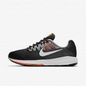 Nike zapatillas para hombre air zoom structure 20 negro/plata mate/hipernaranja/blanco