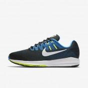 Nike zapatillas para hombre air zoom structure 20 negro/azul foto/verde fantasma/blanco