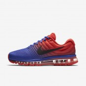 Nike zapatillas para hombre air max 2017 azul extraordinario/naranja máximo/negro