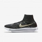 Nike zapatillas para mujer lunarepic flyknit bhm negro/blanco/estrella de oro metálico
