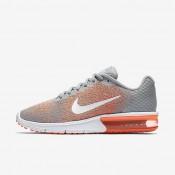Nike zapatillas para mujer air max sequent 2 gris lobo/mango brillante/resplandor crepuscular/blanco