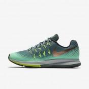 Nike zapatillas para mujer air zoom pegasus 33 shield hasta/verde resplandor/verde fantasma/bronce rojo metálico