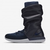 Nike zapatillas para mujer roshe two flyknit hi azul marino universitario/azul escuadrón/gris lobo/azul marino universitario