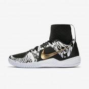 Nike zapatillas para mujer court flare bhm blanco/negro/oro metalizado