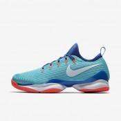 Nike zapatillas para hombre court air zoom ultra react azul polarizado/azul medio/hipernaranja/blanco