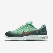 Nike zapatillas para mujer lunarglide 8 shield verde resplandor/hasta/verde fantasma/bronce rojo metálico