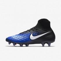 Nike zapatillas para hombre magista orden ii fg negro/azul extraordinario/aluminio/blanco