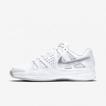 Nike zapatillas para mujer court air vapor advantage clay blanco/platino puro/plata metalizado