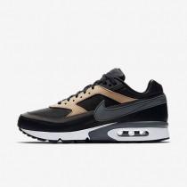 Nike zapatillas para hombre air max bw premium negro/tostado vachetta/blanco/gris oscuro