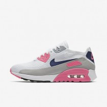Nike zapatillas para mujer air max 90 ultra 2.0 flyknit blanco/rosa láser/negro/concordia