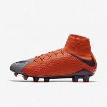 Nike zapatillas para mujer hypervenom phatal 3 df fg naranja máximo/gris azulado/morado dinastía