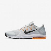 Nike zapatillas para hombre zoom train complete platino puro/cítrico brillante/gris azulado/negro