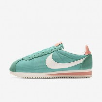 Nike zapatillas para mujer classic cortez textile azul verdoso lavado/rosa atómico/vela/vela