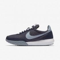 Nike zapatillas para mujer roshe waffle racer premium nm azul marino medianoche/blanco/rojo universitario/gris azulado