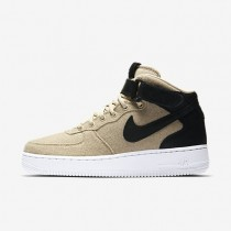 Nike zapatillas para mujer air force 1 07 mid leather premium crudo/negro/crudo/negro