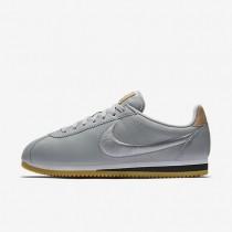 Nike zapatillas para hombre classic cortez leather premium gris lobo/blanco/marrón claro goma/gris lobo