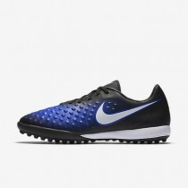 Nike zapatillas para hombre magista onda ii tf negro/azul extraordinario/tinte azul/blanco