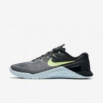 Nike zapatillas para mujer metcon 3 gris oscuro/azul glacial/negro/verde fantasma