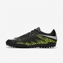 Nike zapatillas para hombre hypervenom phelon ii tf negro/voltio/azul extraordinario/blanco