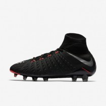 Nike zapatillas para hombre hypervenom phantom 3 df fg negro/negro/antracita/plata metalizado