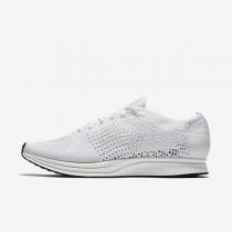 Nike zapatillas para hombre flyknit racer blanco/vela/platino puro/blanco