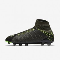 Nike zapatillas para hombre hypervenom phantom 3 df tech craft fg negro/secuoya/verde palmera/verde eléctrico