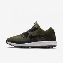 Nike zapatillas para hombre air zoom 90 it caqui militar/blanco cumbre/naranja máximo/negro