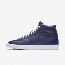 Nike zapatillas para hombre blazer mid premium 09 azul binario/negro/marrón claro goma/blanco