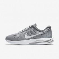 Nike zapatillas para mujer lunarglide 8 gris lobo/gris azulado/blanco