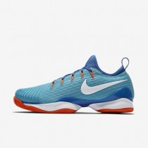 Nike zapatillas para hombre court air zoom ultra react clay azul polarizado/azul medio/hipernaranja/blanco