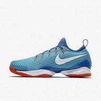 Nike zapatillas para hombre court air zoom ultra react clay azul polarizado/azul medio/hipernaranja/blanco