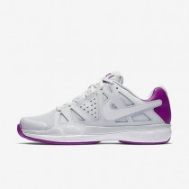 Nike zapatillas para mujer court air vapor advantage platino puro/morado vivo/blanco/blanco