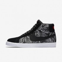 Nike zapatillas para hombre sb blazer mid negro/blanco/naranja máximo/negro