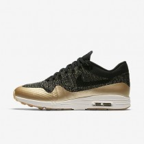 Nike zapatillas para mujer air max 1 ultra 2.0 flyknit metallic negro/estrella de oro metálico/ópalo liso/negro