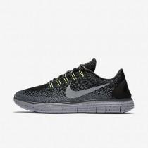 Nike zapatillas para hombre free rn distance shield negro/gris oscuro/sigilo/plata metalizado