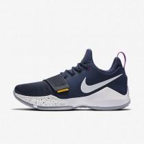 Nike zapatillas para hombre baloncesto pg1 obsidiana/oro universitario/hipervioleta/blanco