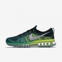 Nike zapatillas para hombre flyknit air max negro/jade transparente/voltio/blanco
