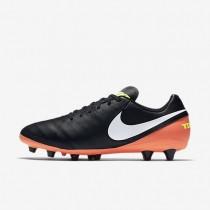 Nike zapatillas para hombre tiempo genio ii leather ag-pro negro/hipernaranja/voltio/blanco