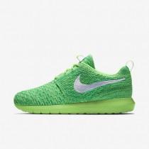 Nike zapatillas para hombre roshe flyknit verde voltaje/verde lúcido/blanco