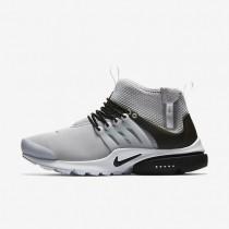 Nike zapatillas para hombre air presto mid utility gris lobo/blanco/negro