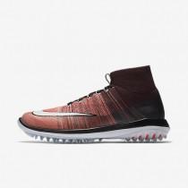 Nike zapatillas para hombre flyknit elite burdeos intenso/naranja máximo/melón brillante/blanco