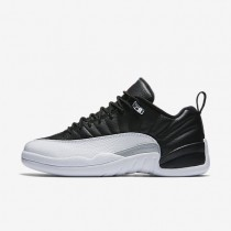 Nike zapatillas para hombre air jordan 12 retro low negro/blanco/plata metalizado/rojo universitario