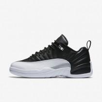 Nike zapatillas para hombre air jordan 12 retro low negro/blanco/plata metalizado/rojo universitario