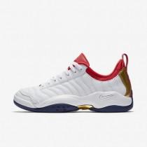 Nike zapatillas para hombre air oscillate blanco/azul binario/rojo universitario/oro metalizado