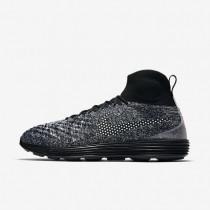 Nike zapatillas para hombre lunar magista ii flyknit fc negro/blanco/blanco/negro