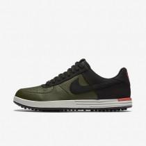 Nike zapatillas para hombre lunar force 1 g caqui militar/naranja máximo/hueso claro/negro