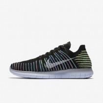 Nike zapatillas para hombre free rn flyknit negro/voltio/laguna azul/blanco